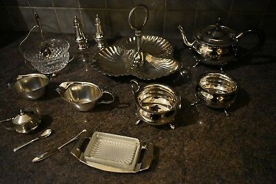 Vintage Silver Plated Tableware Collectable Silver-Plated Kitchenware Job Lot