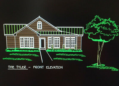 The TYLER  Ranch House 3 bed/2 bath  1121 sq ft Building Plans