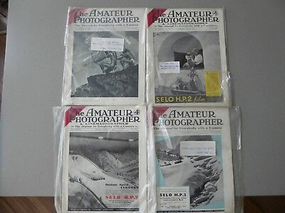 """Four Vintage """"The Amateur Photographer"""" Magazines from 1939 & 1940"""