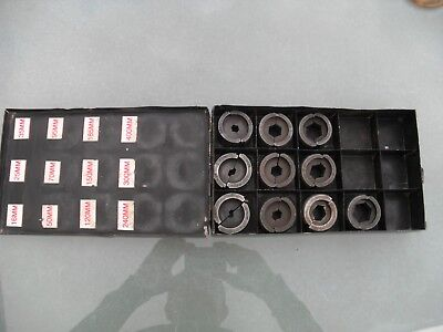 Joblot 10 x  C / U hydraulic crimper dies. 16mm2 to 240mm2 in metal storage box.