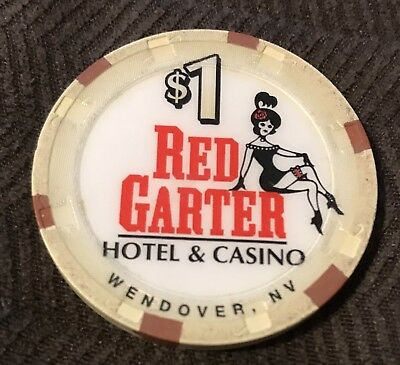 Red Garter Hotel & Casino $1 Gaming Chip Wendover, NV poker gambling
