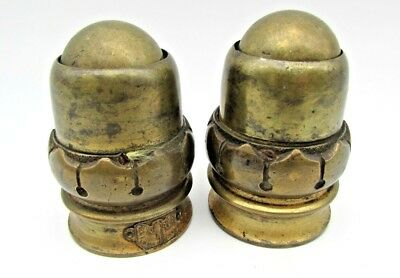 "Two rare, early C.19 th. brass ball Castors 3."" high, in original condition."