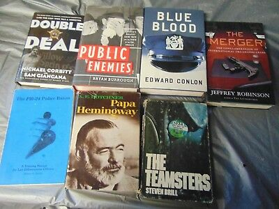 Lot of 7 Mystery Suspense Thriller Crime Murder Detective Hardcover HB MIX Book