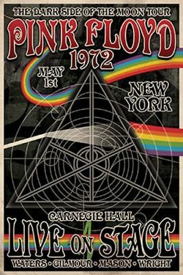 Pink Floyd Dark Side of the Moon Tour 1972 Rock Music Poster 24x36