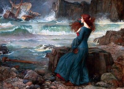 Miranda the Tempest Painting by John William Waterhouse Art Reproduction