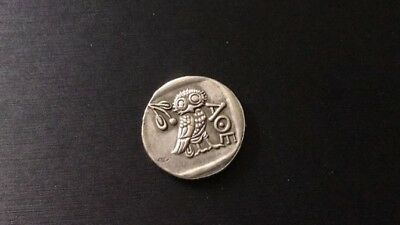 Collectible Ancient Greek Coin Attica Athens Silver Greece Owl Drachma 440 BC
