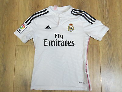 REAL MADRID 2014-15 LFP home shirt adidas jersey size Boys M 152cm ... e4ab7550c