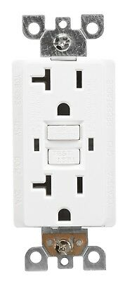 20 Amp GFCI Outlet Receptacle White