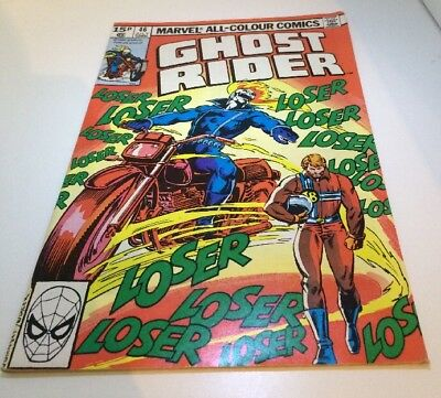 Retro Vintage Comic ~ Ghost Rider #46 July  Marvel Comics ~Collectables