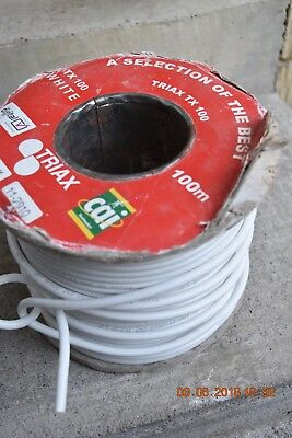 Reel of White Digital tv Coaxial Cable