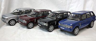 2003 Land Rover Range Rover Welly 1/24 Diecast LOT 2415 Blue Maroon Silver Black
