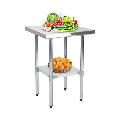 2FTx2FT Commercial Stainless Steel Kitchen Work Catering Table Prep Worktop