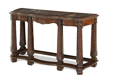Windsor Court Classic Sofa Table w/Beveled Glass in Fruitwood Finish