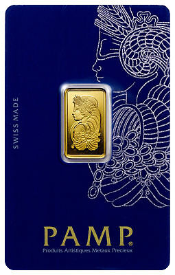 PAMP Suisse 5 Gram .9999 Gold Bar - Lady Fortuna With Assay Certificate NEW SALE
