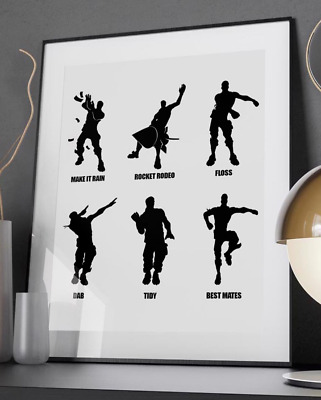 Fun Emote Dances - Quote Poster Print - A6 to A0 - Gaming Xbox PS4 Battle Royale