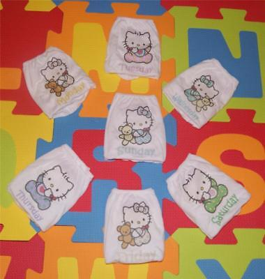 "ADULT BABY LITTLE GIRL KNICKERS ""HELLO KITTY"" DAYS OF THE WEEK, ( 7 pairs)"