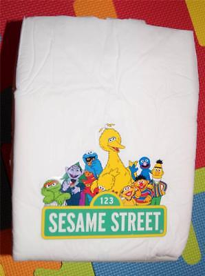 Adult Baby Nappies / Diapers Sesame Street X 10 (S . M . L . Xl)