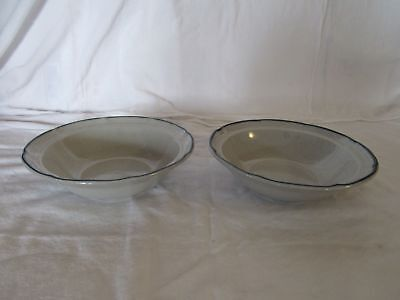 """2 International China The American Patchwork Heritage 6 3/4"""" Cereal Bowls"""