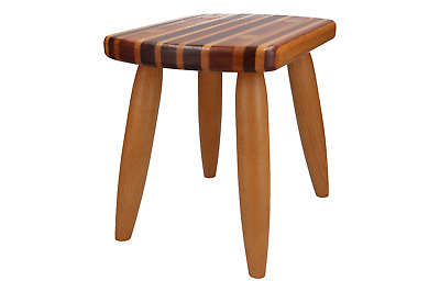 An E.Donson hand crafted stool / side table Multiple woods