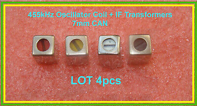 IF Tuned Transformer Oscillator Coil Set Red Yellow White Black 455 kHz CAN 7mm