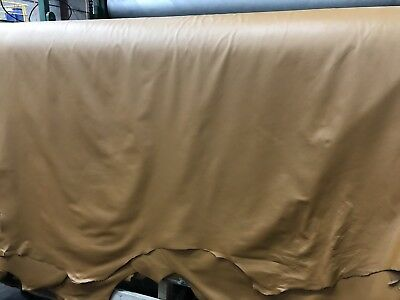 Tan Leather Upholostery,  Full- Hides, Light Emboss