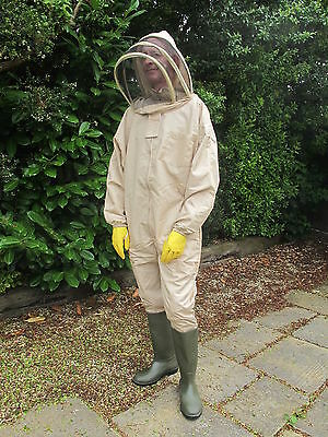 PREMIUM QUALITY Bee Suit Fencing Veil Style - Camel/Biscuit. All Sizes