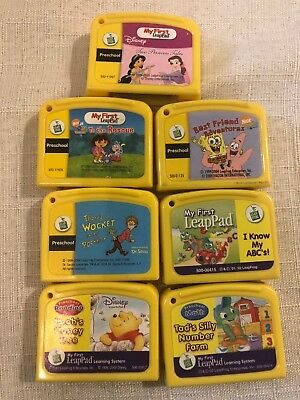 Leap Frog My First LeapPad Learning System Game Yellow Cartridges Lot of 7