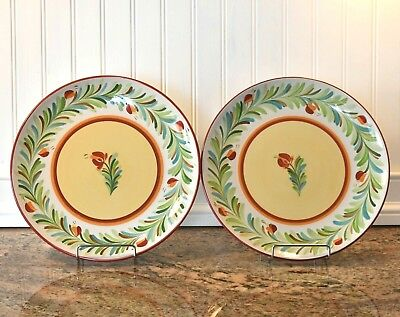 2 Southern Living at Home Gail Pittman Siena Dinner Plates Excellent Condition!