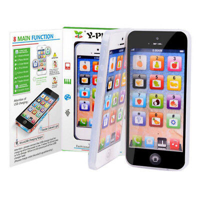 Smart Touch LED Baby Toy Y-phone Kids Learning  Education Cell Phone Machine