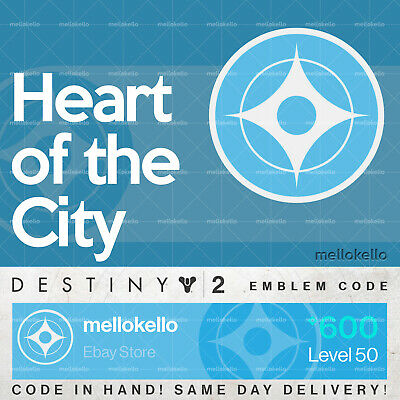Destiny 2 Heart of the City emblem IN HAND!! SAME DAY DELIVERY!!!