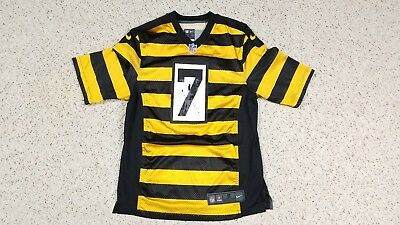 sneakers for cheap 27278 5f525 BEN ROETHLISBERGER #7 Pittsburgh Steelers Bumblebee NIKE Jersey Adult Size  S NFL