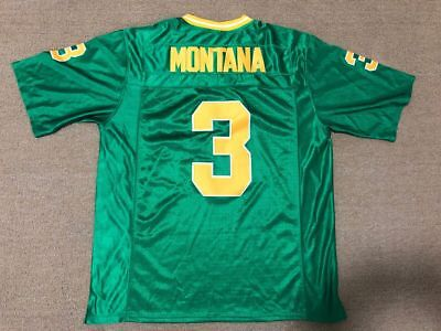 f50d0e4ca New Joe Montana  3 Football Jersey Fighting Irish Notre Dame All Stitched  Green