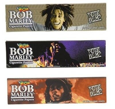 3 Packs Bob Marley Pure Hemp Rolling Papers King Size 33 Lvs ONLY $1.32 a Pack!