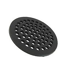 """Sioux Chief 7"""" Cast Iron Grate Floor Drain Cover Black"""