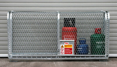 6 X Gas Cylinder Mesh Cages With Up And Over Access