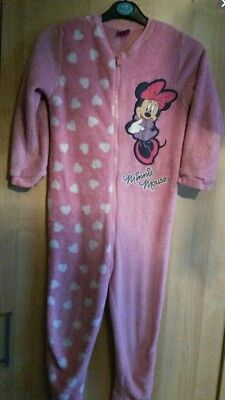 Girls Minnie Mouse All In One Sleepsuit And Minnie Mouse Pyjamas