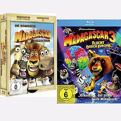 Madagascar 1-3 Collection DreamWorks 1 + 2 + 3 - Blu-ray