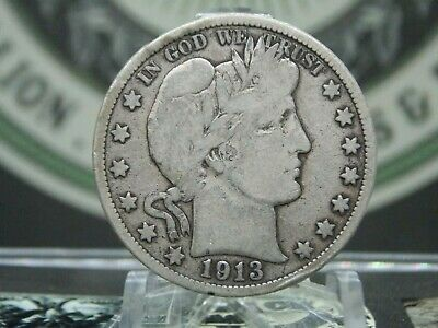 "1913 ""P"" Barber Half Dollar 50c #4 KEY DATE East Coast Coin & Collectables, Inc."