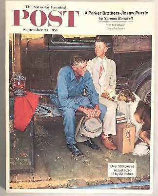 NORMAN ROCKWELL Saturday Evening POST 1970 Puzzle OFF TO COLLEGE Parker Brothers