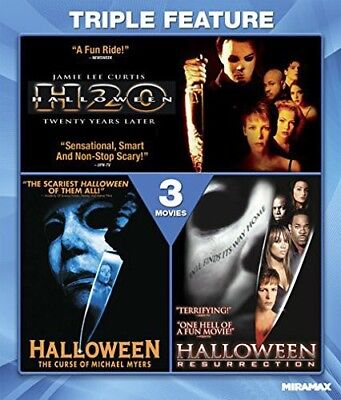 Halloween 7 H20 / 6: Curse of Michael Myers / 8: Resurrection BLU-RAY NEW