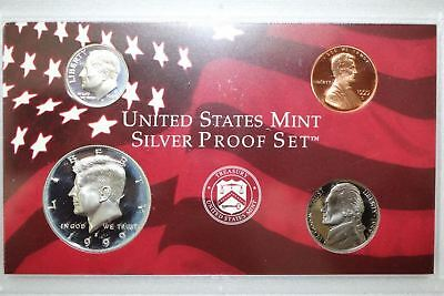 1999 United States Mint Silver Proof 9 Piece Set with Box - No COA