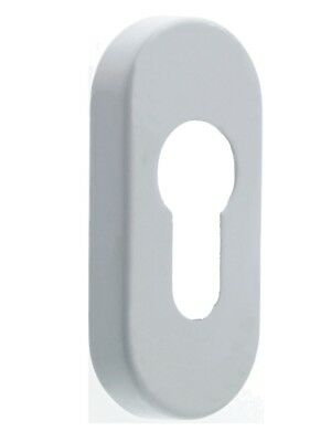 Mila Escutcheon Patio Door Euro Cylinder Cover Plate White Gold Chrome