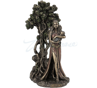 Danu - Mother Of The Tuatha De Denann Statue Sculpture Figurine