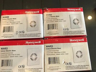 Lot (4) Honeywell Ademco Wave2 Two Tone Indoor Security Siren *New