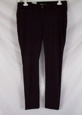 8dcec8c47b110 Canyon River Blues Womens Knit Pants Skinny Purple Sz Large Stretch AA392  NWT