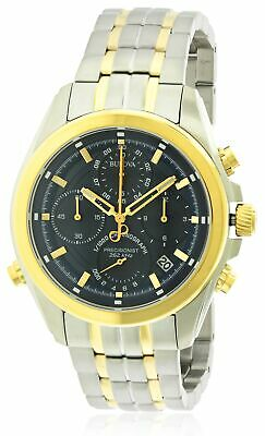 Bulova Two-Tone Stainless steel Chronograph Mens Watch 98B276