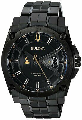 Bulova  Special Grammy Edition Precisionist Black Stainless Steel Mens Watch