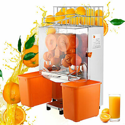 Commercial Auto Feed Orange Juicer Squeezer Stainless Steel 220v