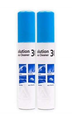 Solution 30 (2 x 25ml Pocket Size Pack) twin pack Lens Cleaner