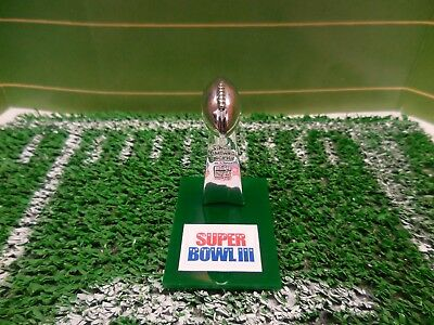 Super Bowl III NY Jets Pocket Pro Mini Lombardi Trophy With Stand